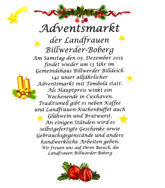 Adventsmarkt Flyer